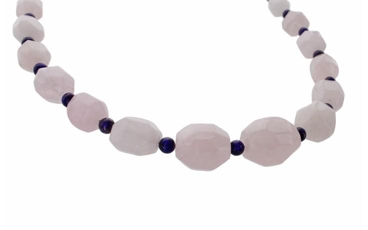 Rose Quartz and Lapis Necklace