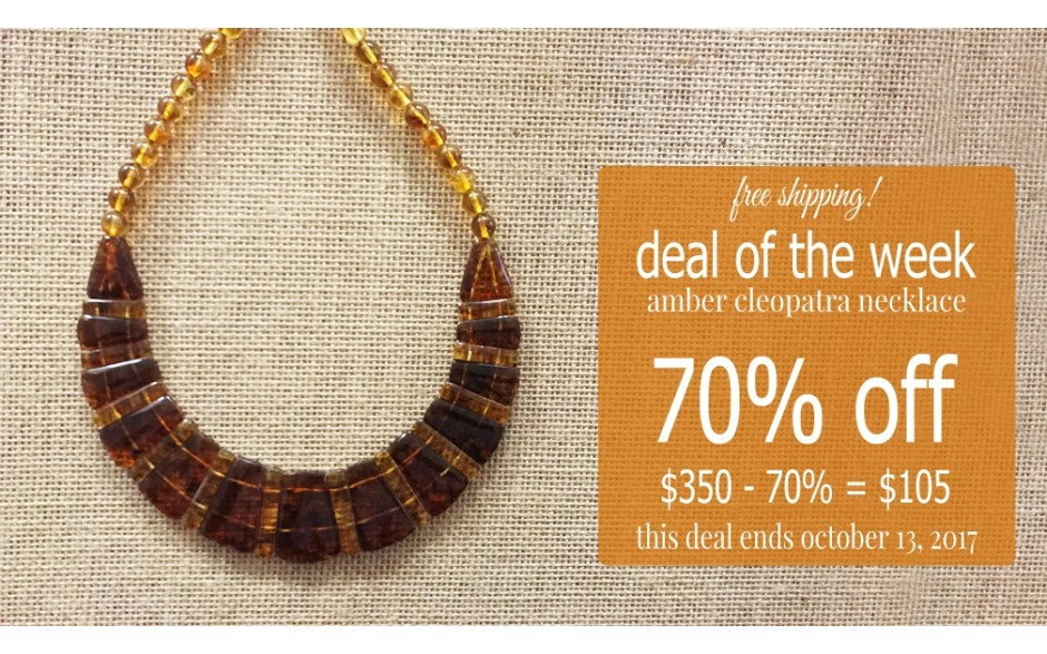 Amber Cleopatra Necklace