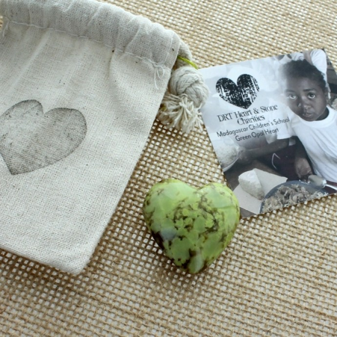 Madagascar Green Opal Heart