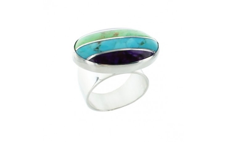 Multi Colored Turquoise Ring