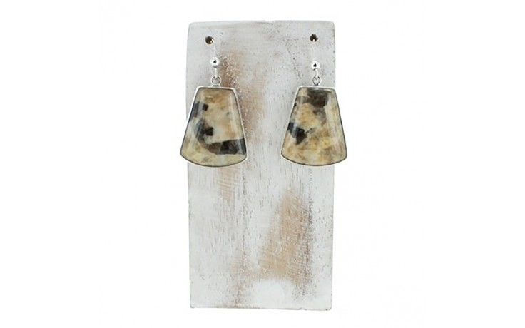 Zebra Feldspar Earrings