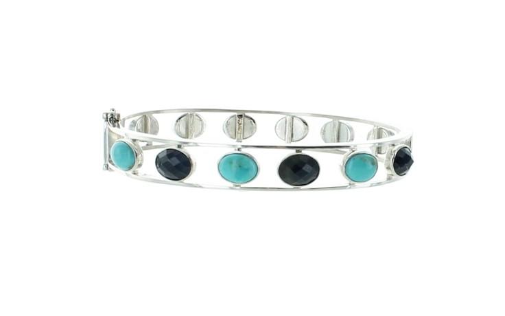 Malawi Sapphire & Turquoise Bangle ** Small