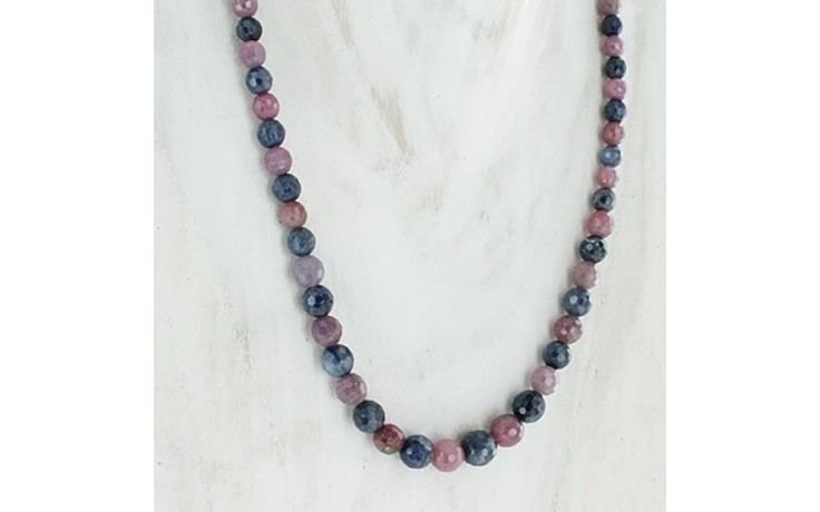 Blue & Pink Sapphire Necklace