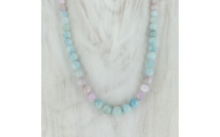 Pink Morganite & Aquamarine Necklace