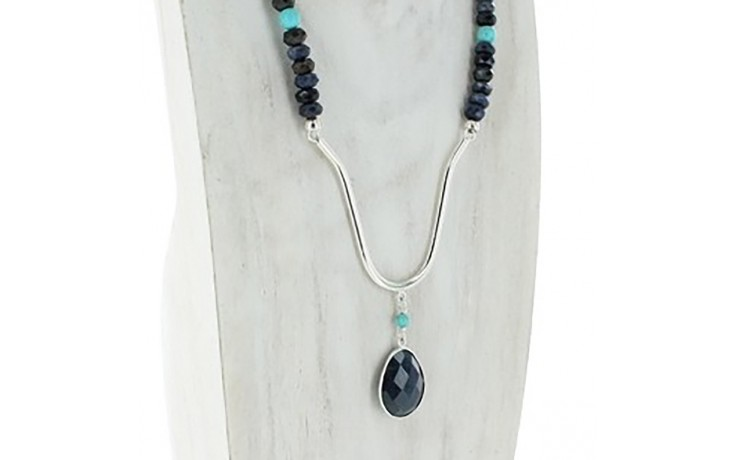 Malawi Sapphire & Turquoise Necklace