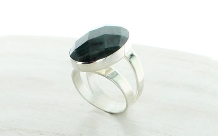 Teal Green Apatite Ring