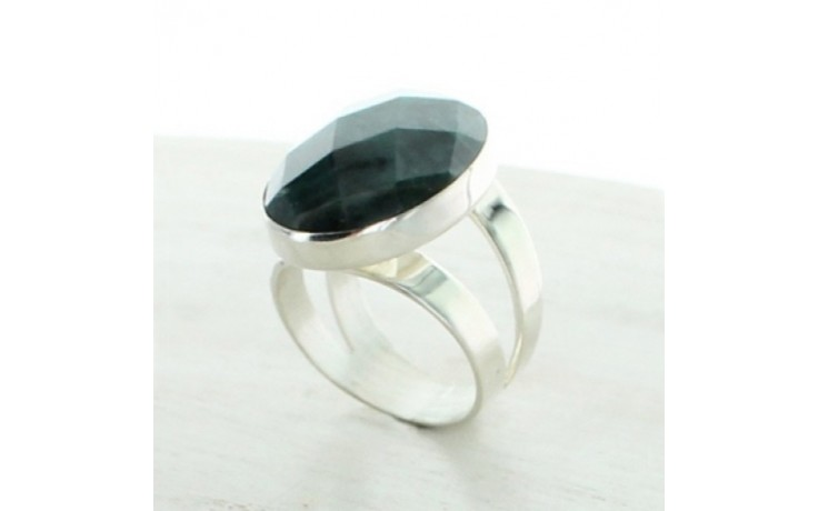 Teal Green Apatite Ring