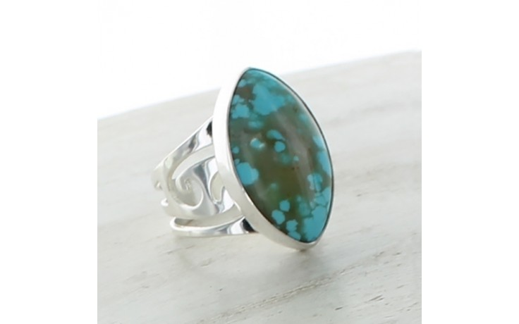 Sonoran Blue Turquoise Ring Sz 7