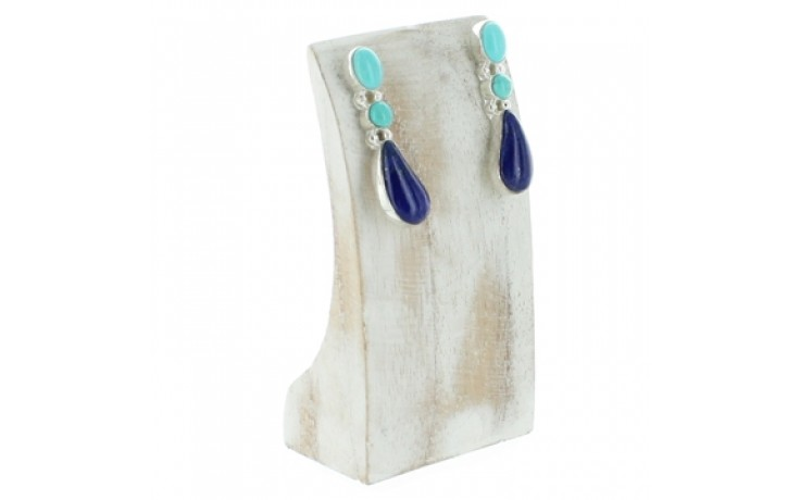 Turquoise & Lapis Earrings