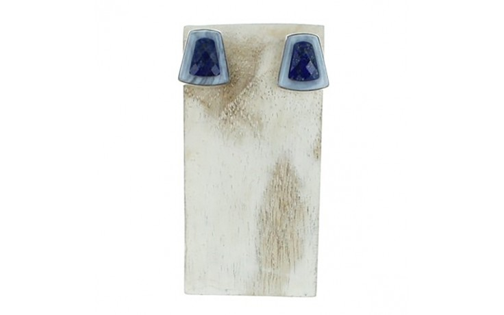 Lapis & Blue Lace Agate Earrings