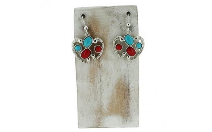 Coral & Seven Peaks Turquoise Earrings
