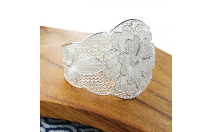Layered Flower Filigree Cuff