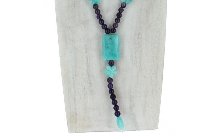Amethyst & Peruvian Amazonite Necklace