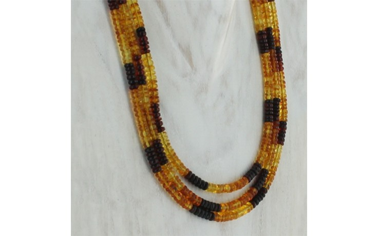 3 Strand Amber Necklace