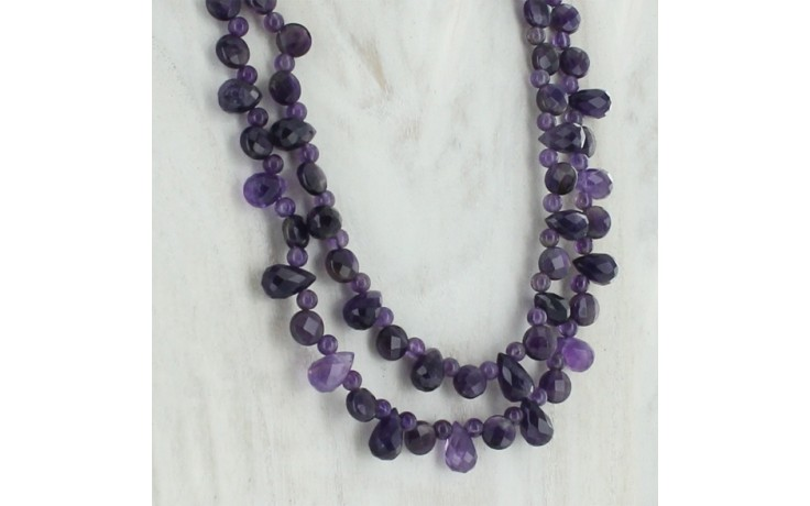Amethyst Double Strand Necklace