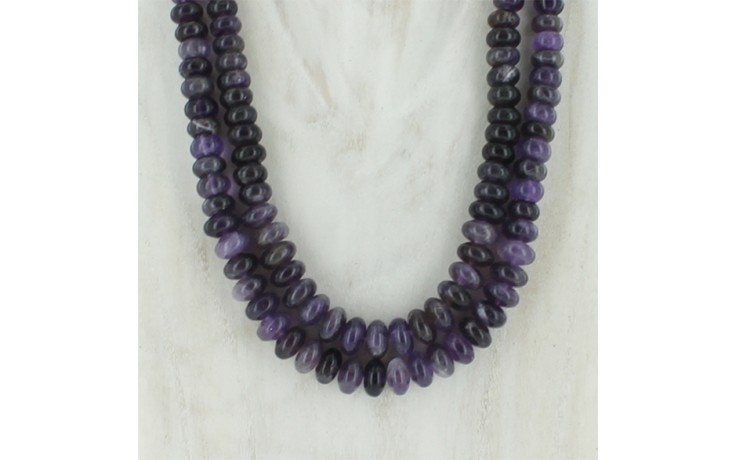 2 Strand Amethyst Necklace