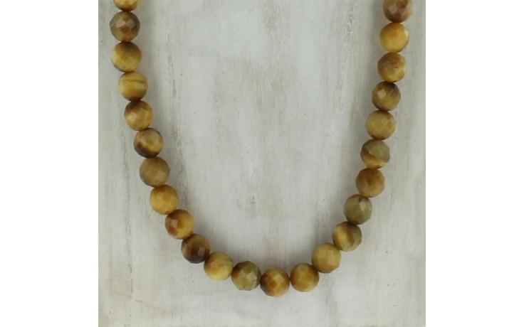 Golden Tiger Eye Beaded Necklace