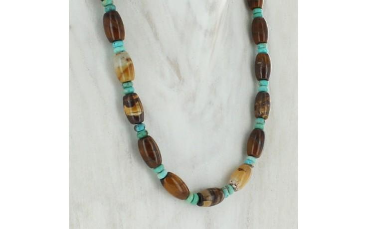 Multi Stone Beaded Necklace