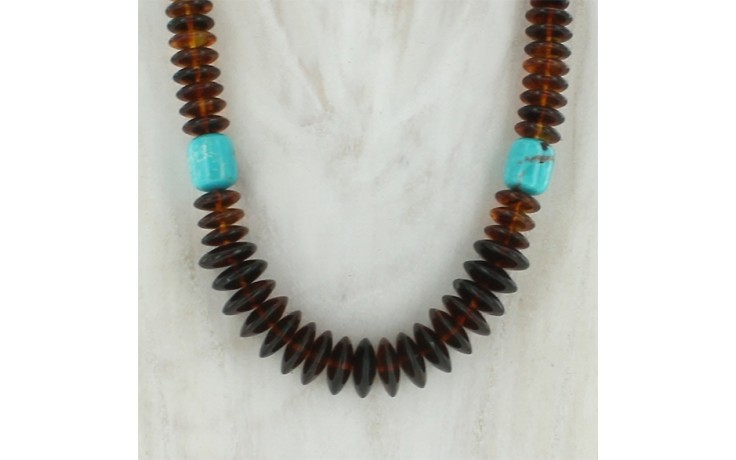 Amber & Azure Peaks Turquoise Necklace