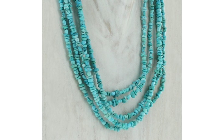 Campitos Turquoise 5 Strand Necklace