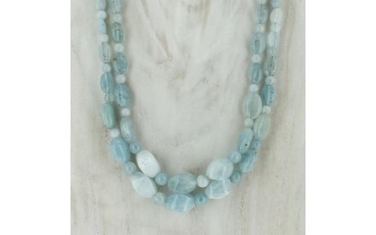 2 Strand Aquamarine Necklace
