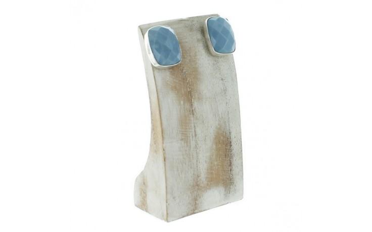 Dream Blue Opal Faceted Earrings