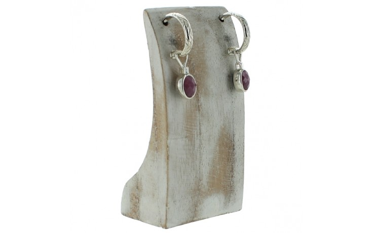 Labradorite & Pink Sapphire Reversible Earrings