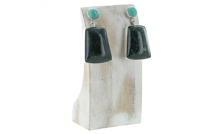 Turquoise & Teal Apatite Earrings