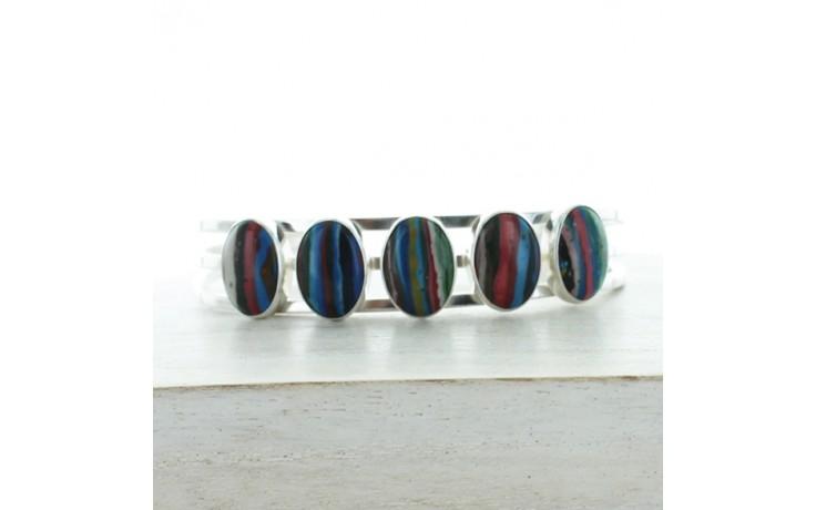 Rainbow Calsilica Cuff