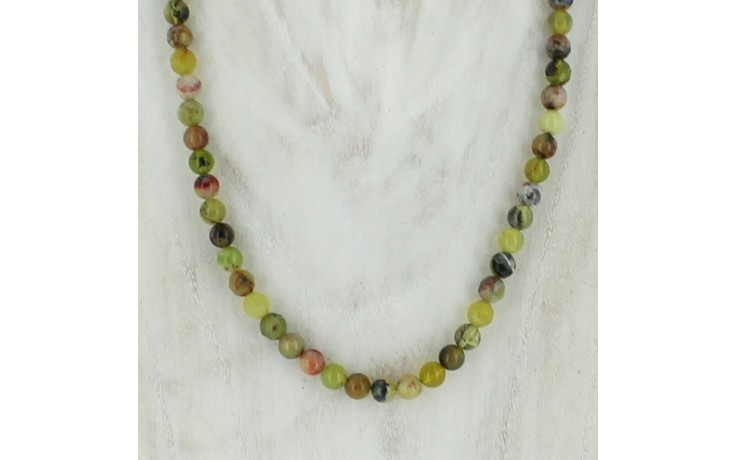 Namibian Green Goddess Opal Necklace