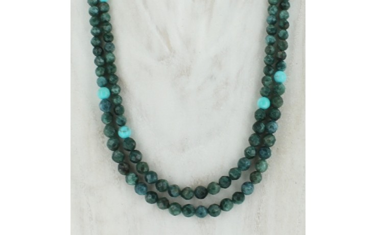 Teal Apatite & Turquoise Necklace