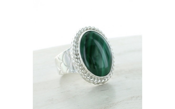Malachite Ring Size 8