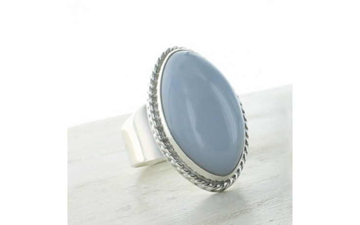 Blue Chalcedony Ring Size 10