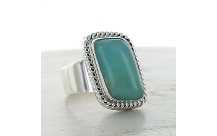 Blue Opal Ring Size 8