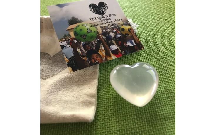 Madagascar Girasol Quartz Heart