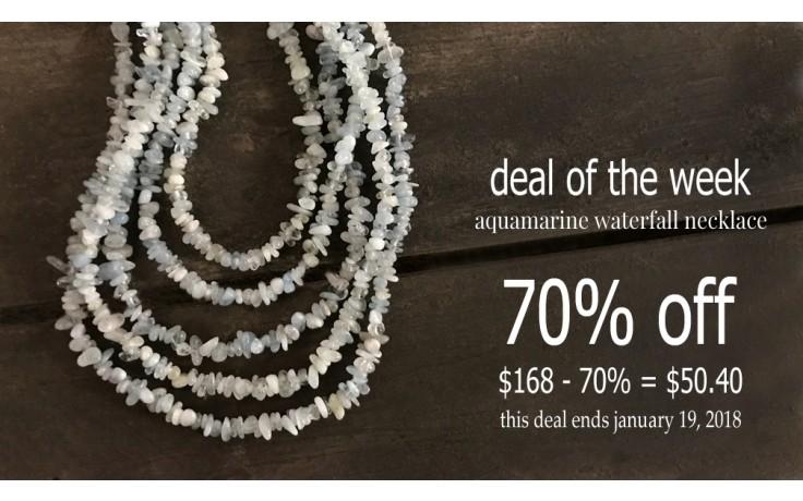 Aquamarine Waterfall Necklace