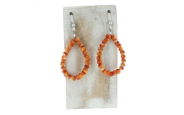 Spiny Oyster Hoop Earrings