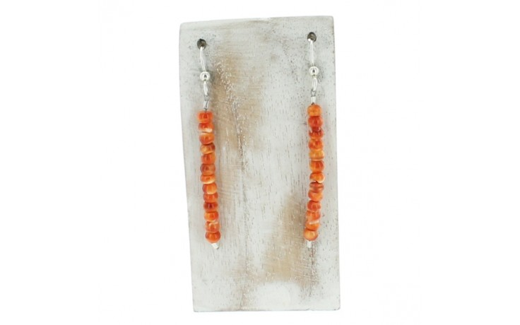 Spiny Oyster Dangle Earring