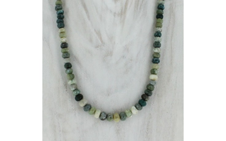 Multi Chalcedony Beaded Necklace