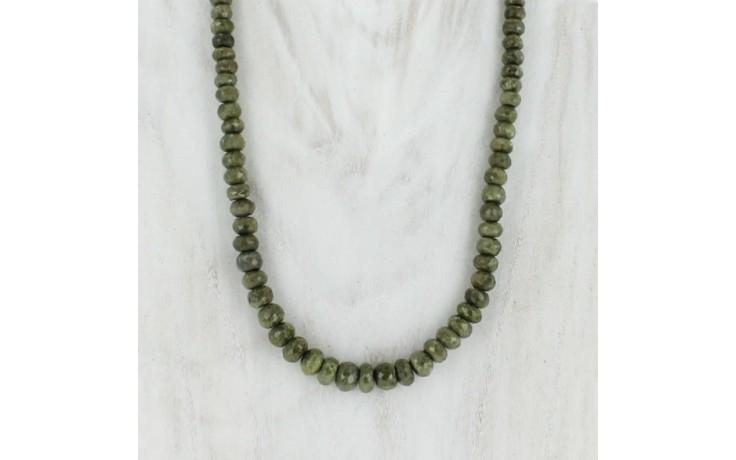 Epidote Beaded Necklace