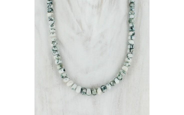 Green Matrix Chalcedony Necklace