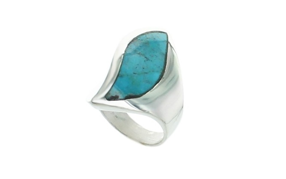 Red Skin Turquoise Ring
