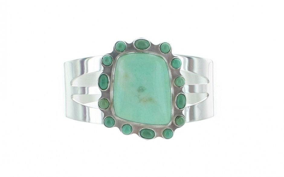 Green Opal & Turquoise Cuff
