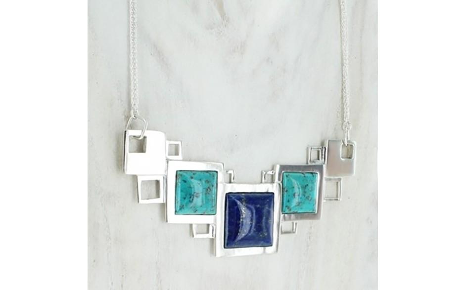 Turquoise & Lapis Necklace