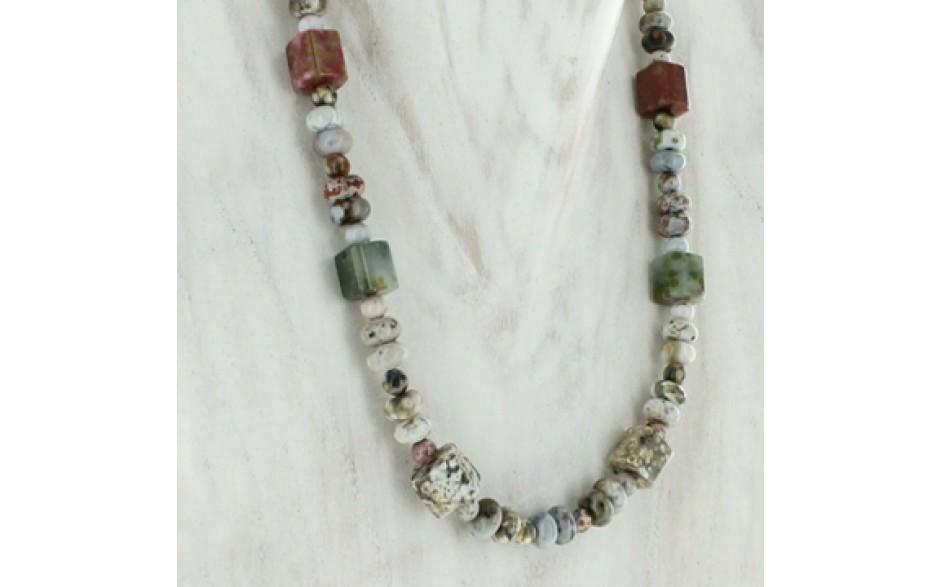 Orbicular Stone Necklace