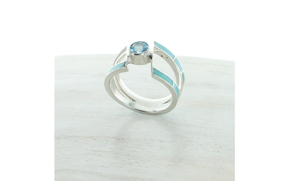 Campitos Turquoise & Blue Topaz Ring