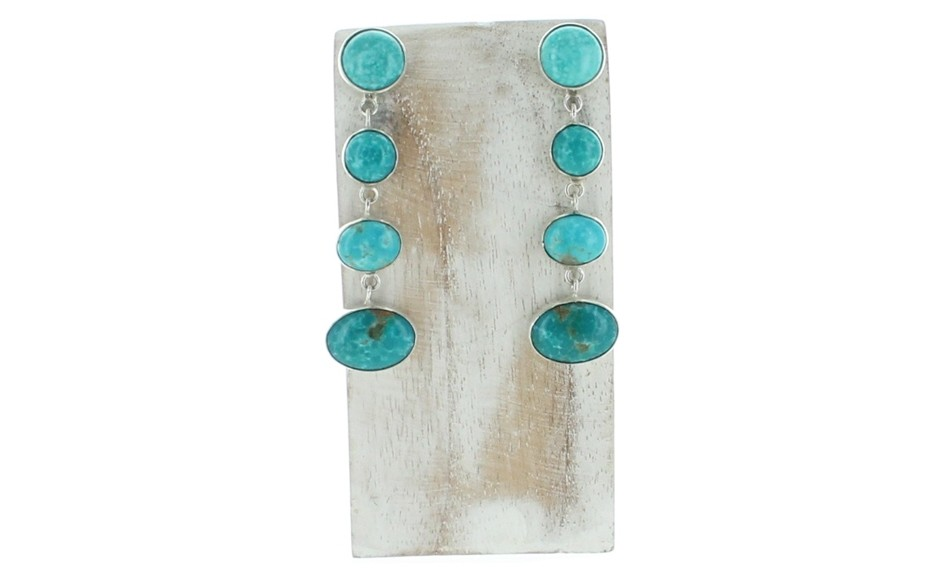Sonoran Blue Turquoise Earrings