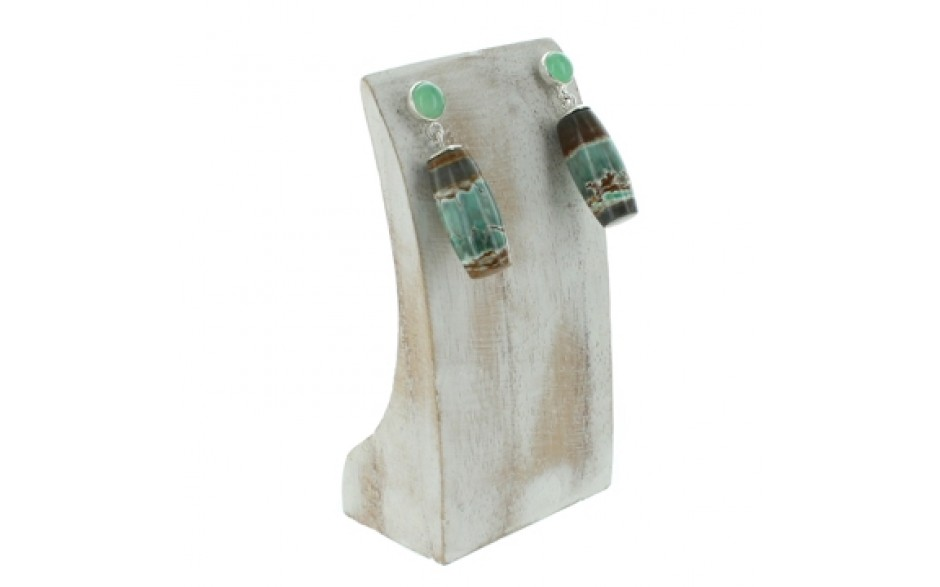 Boulder Variscite & Chrysoprase Earrings