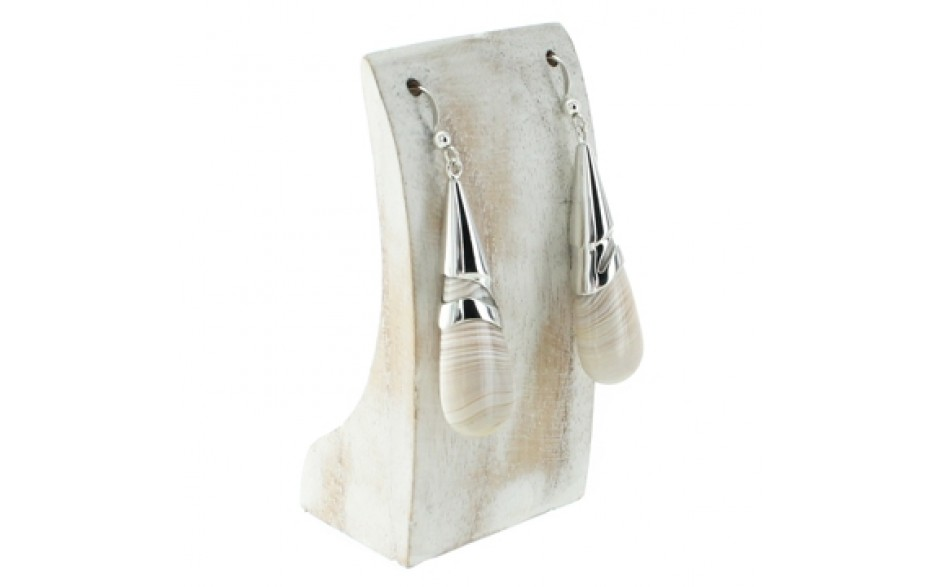 Dendriband Agate Earrings