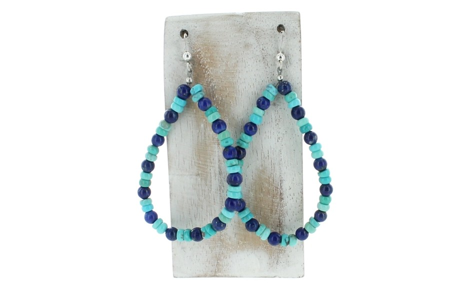 Lapis & Andean Blue Turquoise Earrings